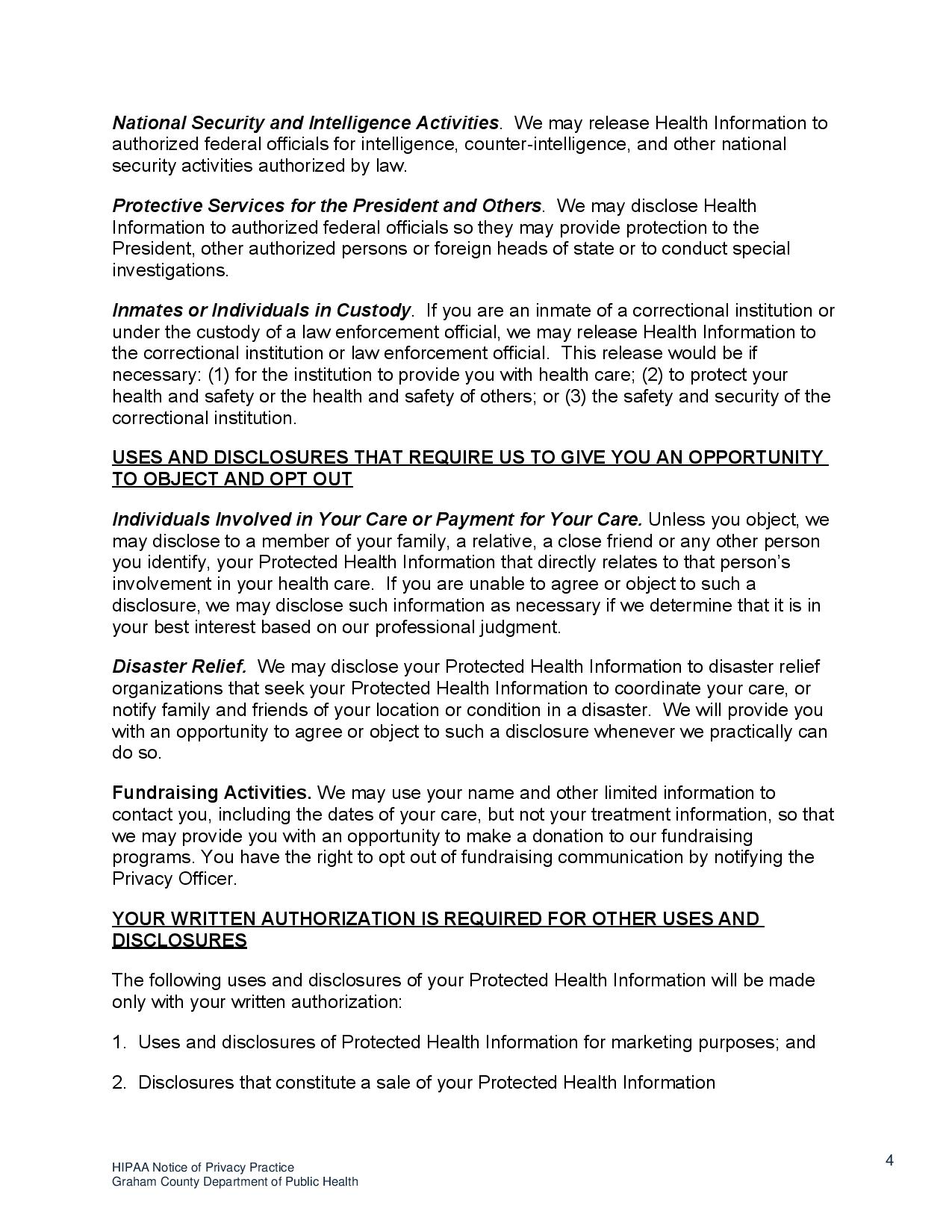 page 4 HIPAA Notice o f Privacy Practices
